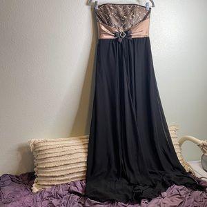 Jessica McClintock x Gunne Sax strapless dress